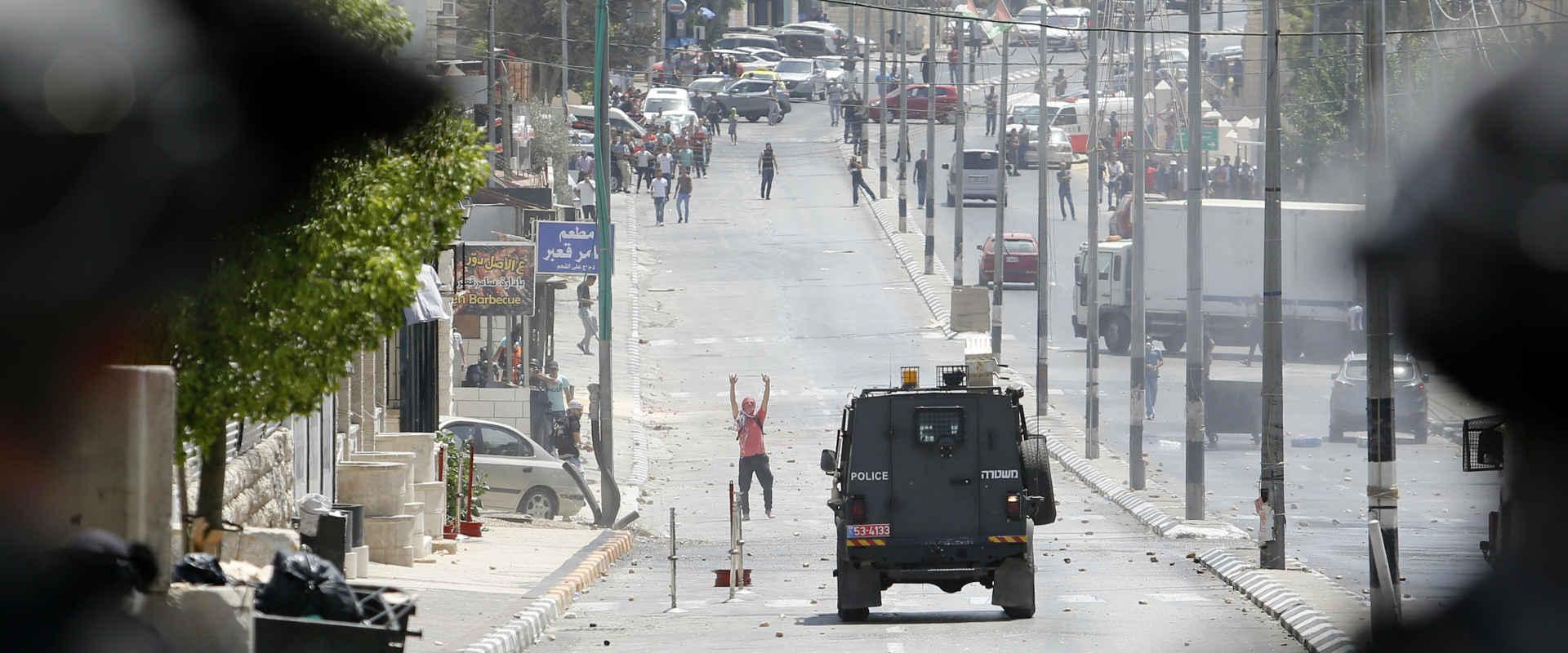 עימות בין כוחות הביטחון לפלסטינים בבית לחם, בשבוע