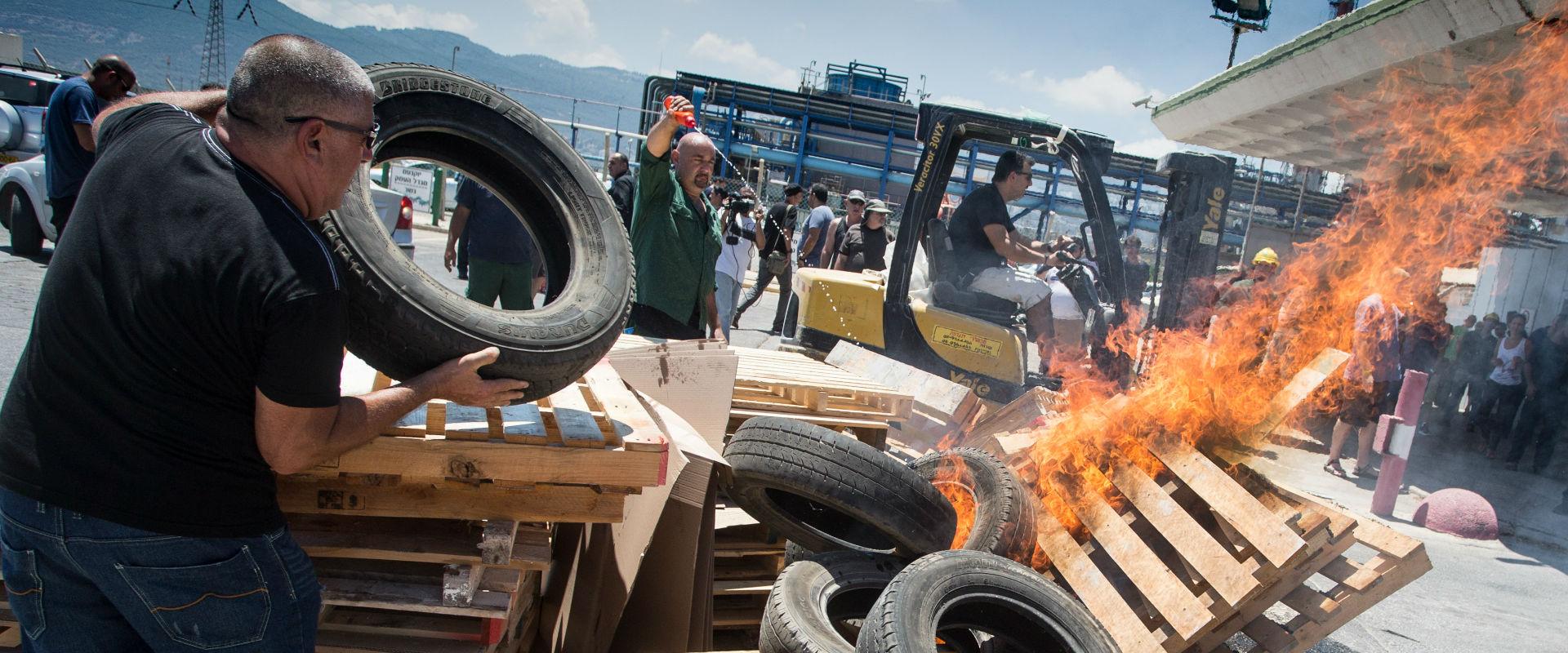 מחאת עובדי חיפה כימיקלים