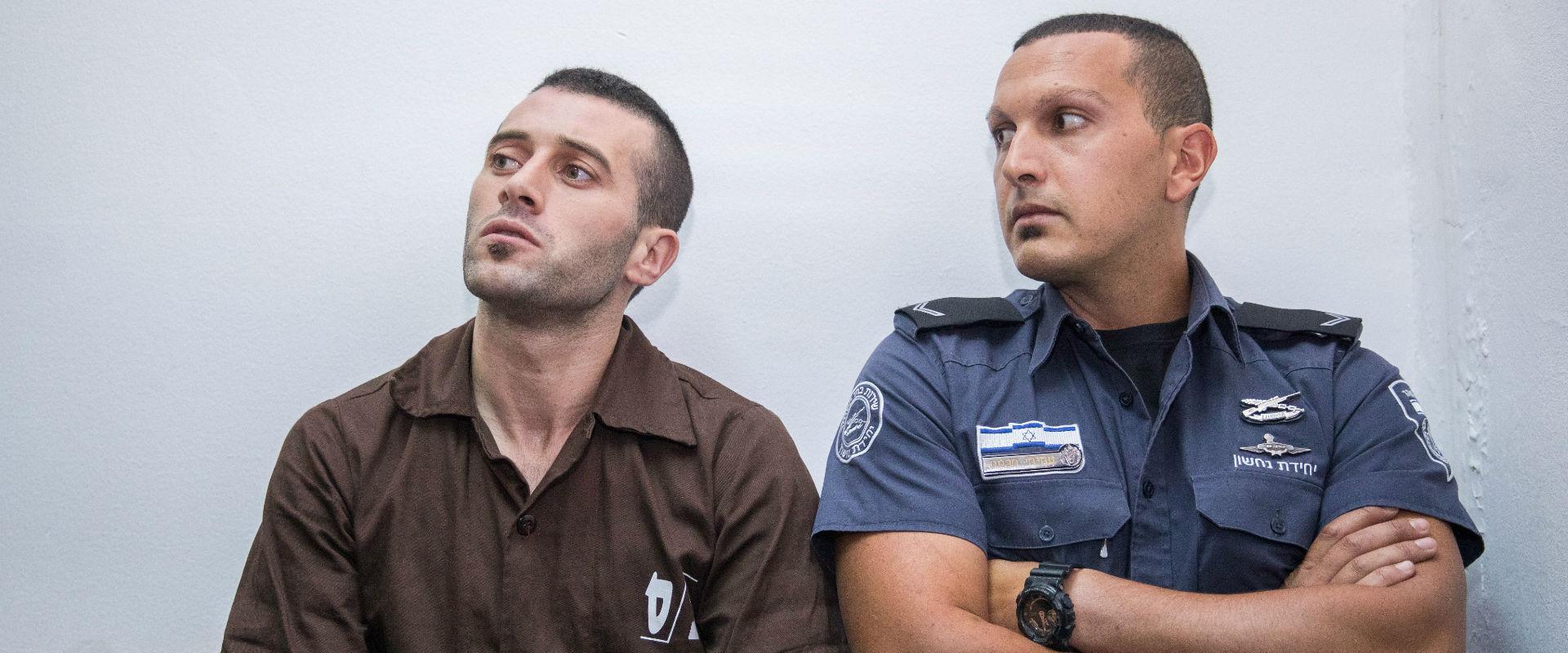 הנאשם ברצח, מוחמד חארוף, בבית המשפט