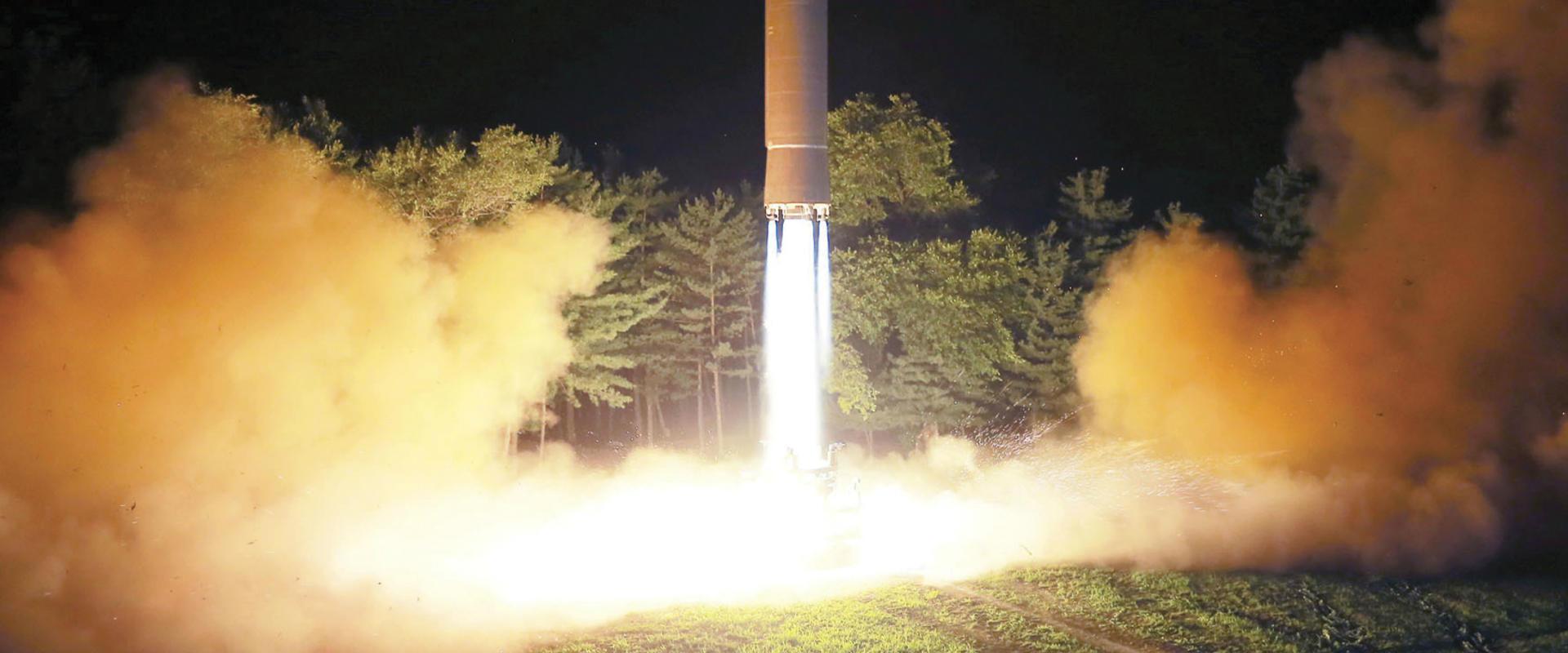 ניסוי שיגור הטיל האחרון קוריאה הצפונית, שבוע שעבר