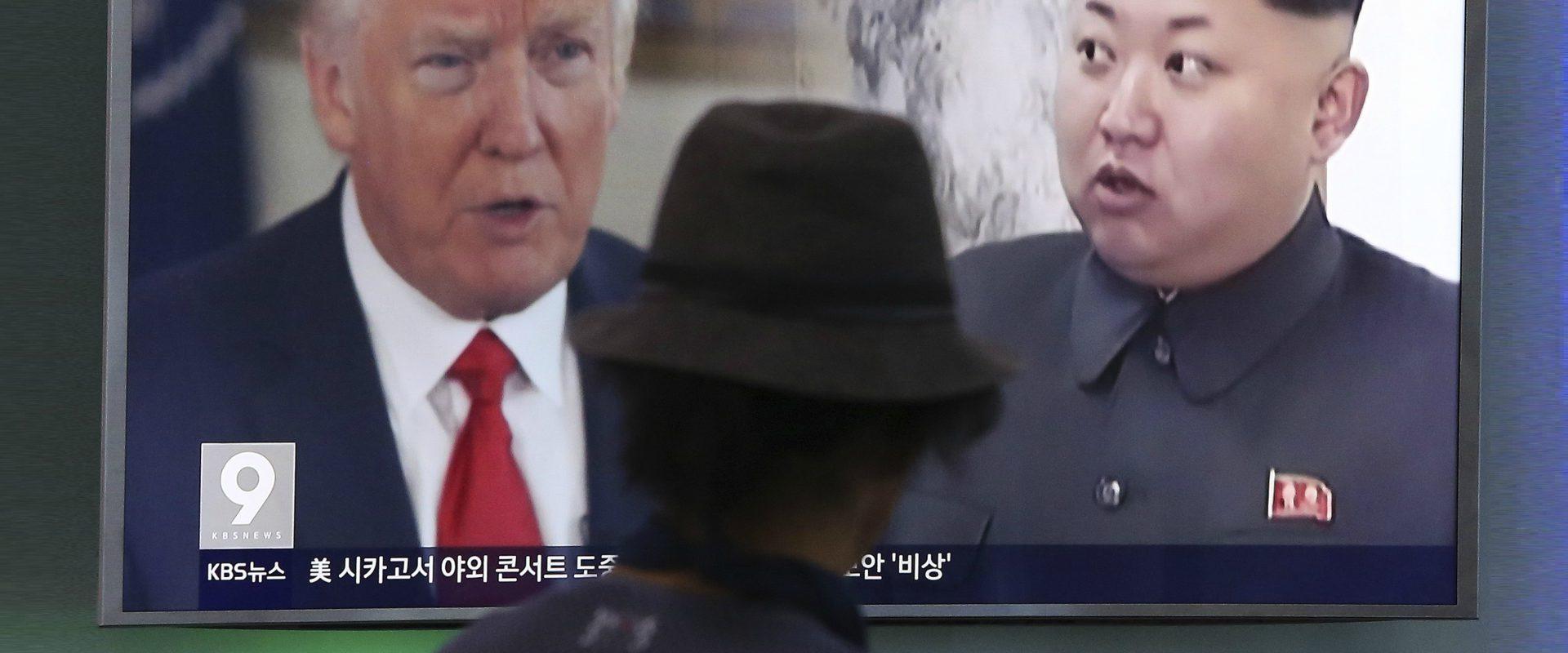 קים ג'ונג איל ודונאלד טראמפ