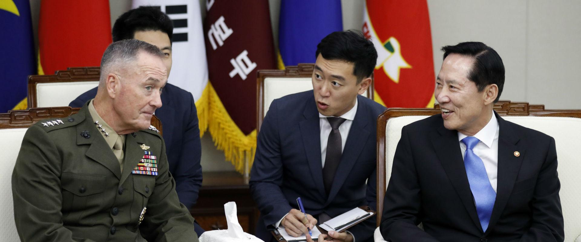"""הרמטכ""""ל האמריקני מבקר בקוריאה הדרומית"""
