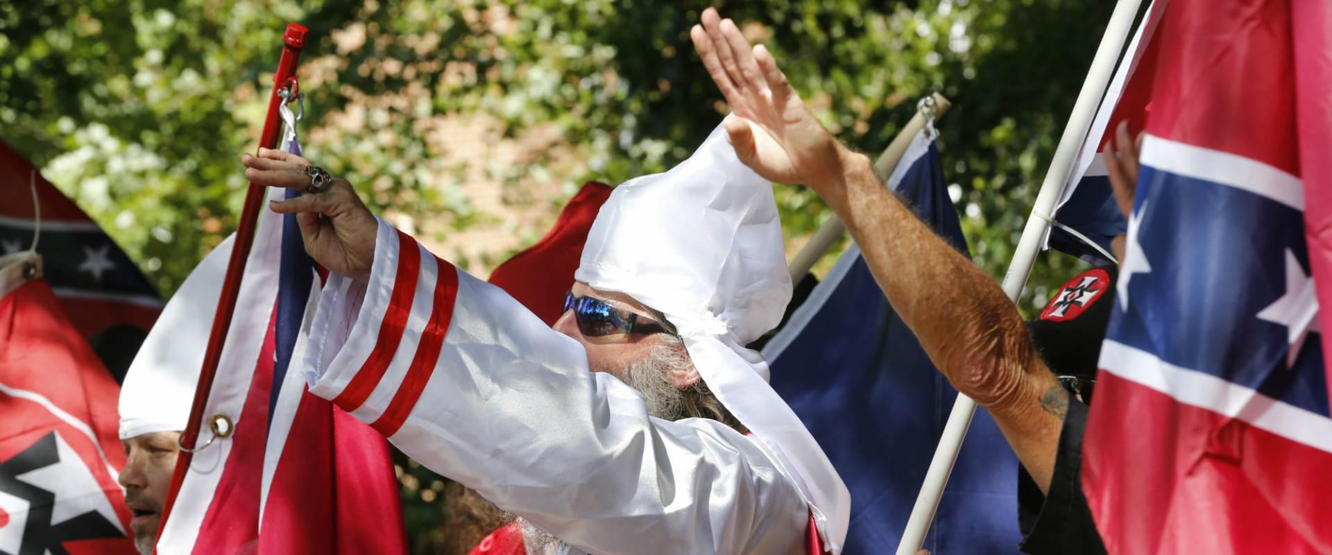 המפגינים מהימין הקיצוני בווירג'יניה