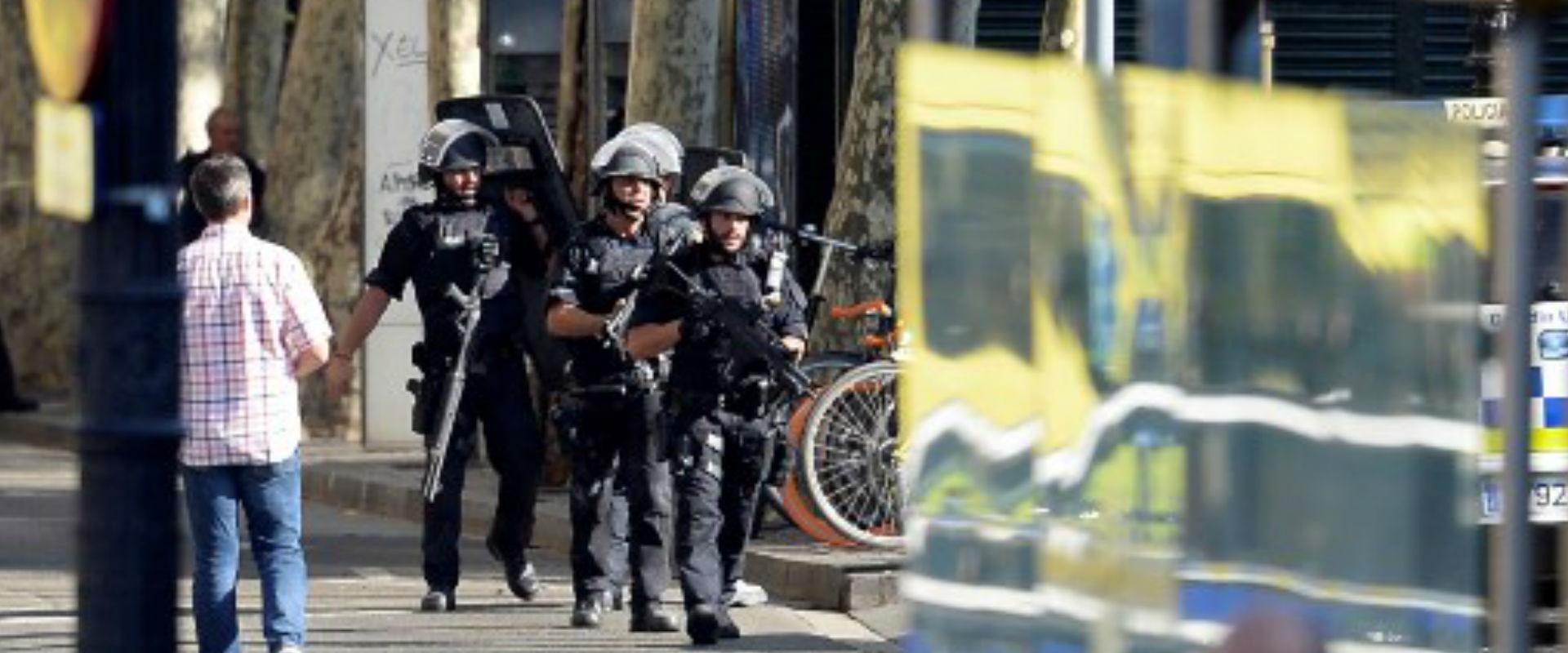 זירת פיגוע הדריסה בברצלונה