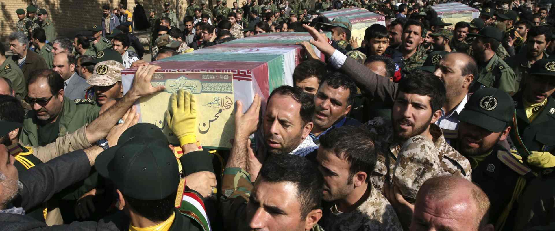 הלוויית לוחם איראני שנהרג בסוריה