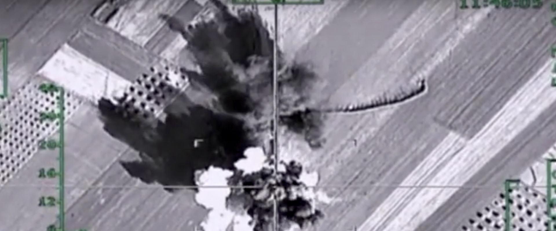 מטוסי חיל האוויר הרוסי בהתקפה על אנשי דאעש