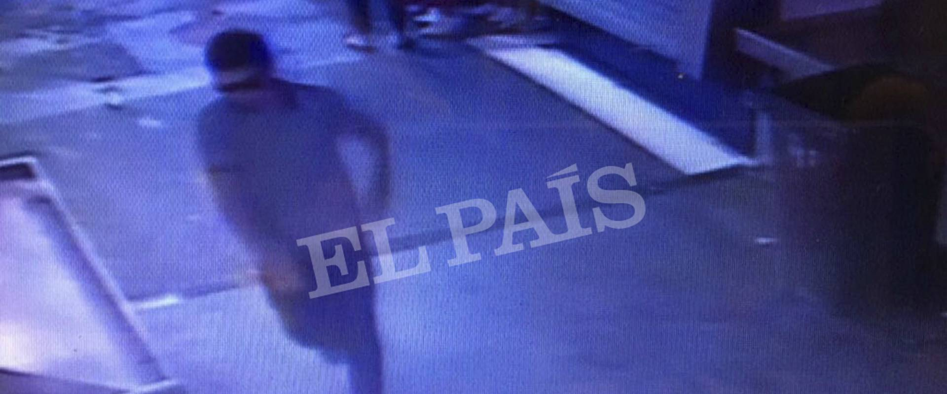 המחבל כפי שתועד במצלמות האבטחה בברצלונה