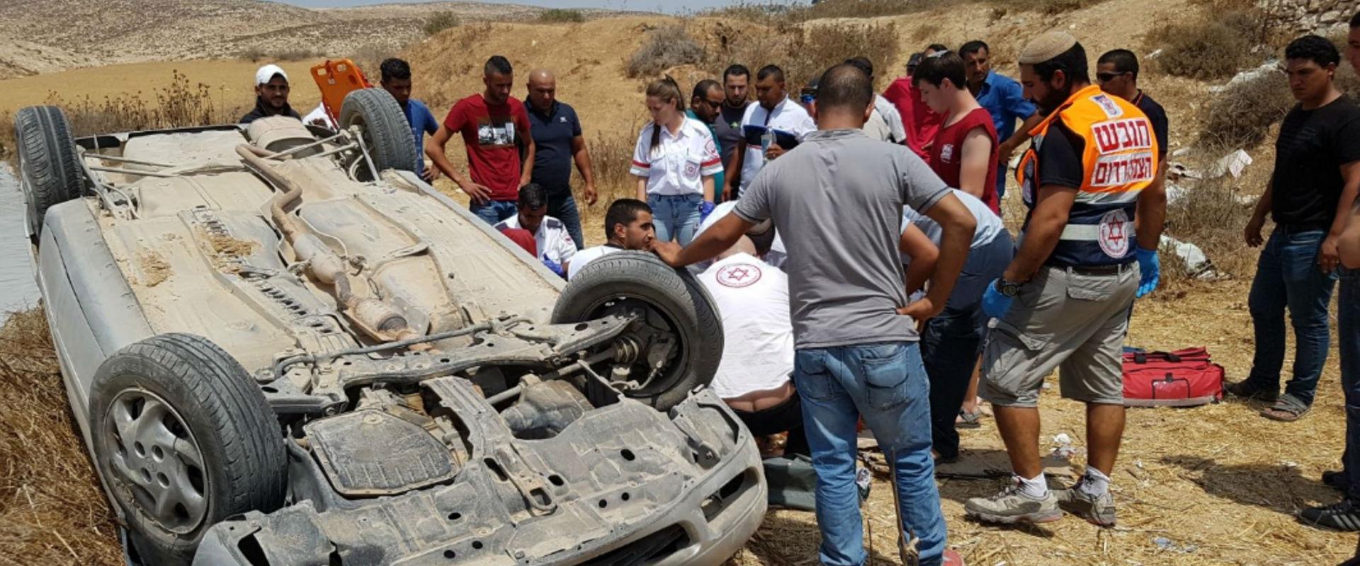 זירת התאונה בכביש 60