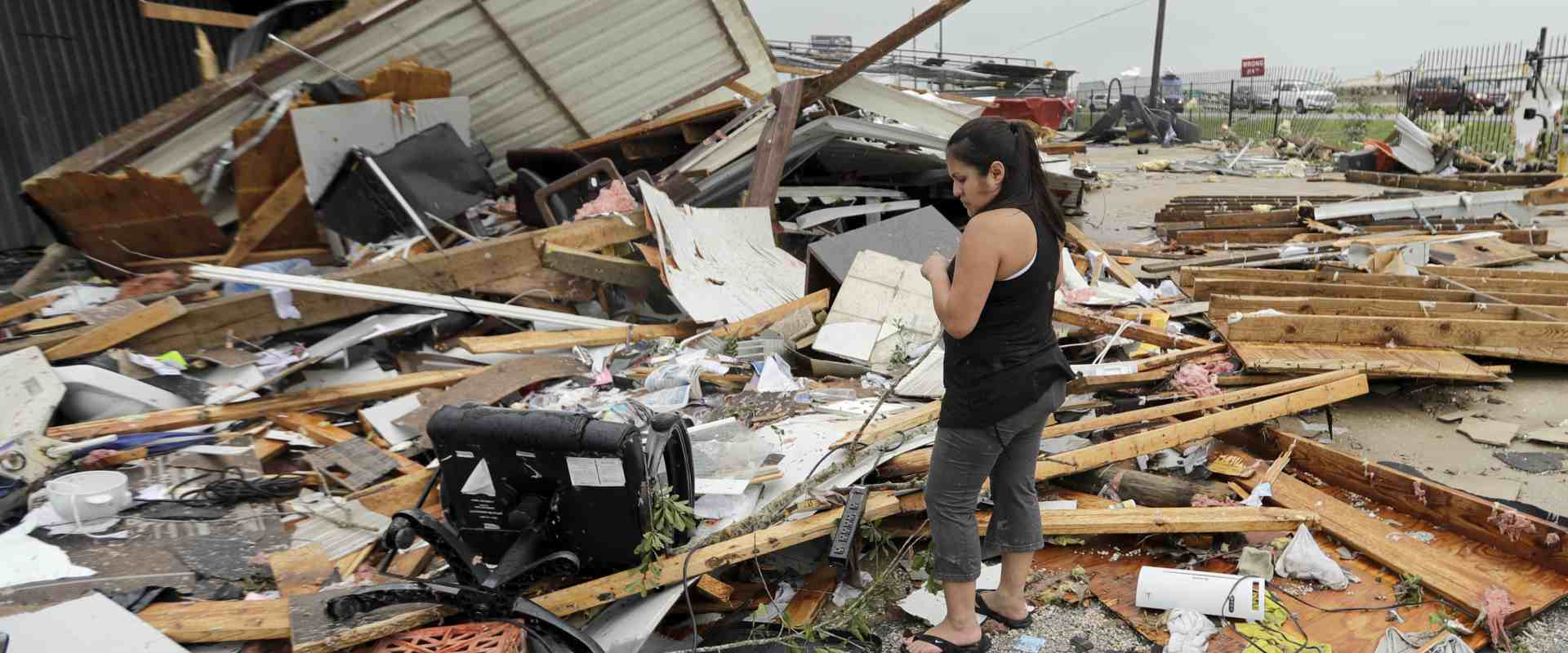 נזקי ההוריקן בחופי טקסס