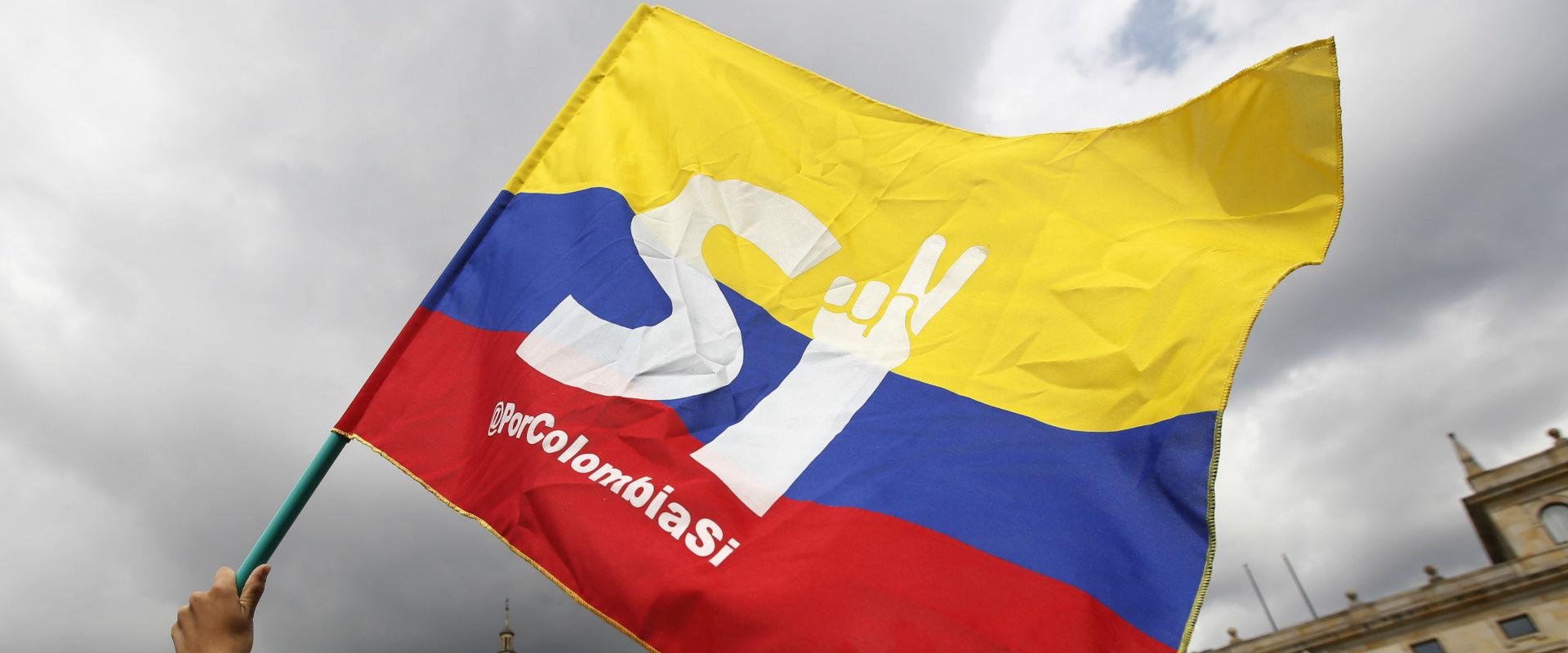 הפגנות בעד הסכם הפיוס בקולומביה