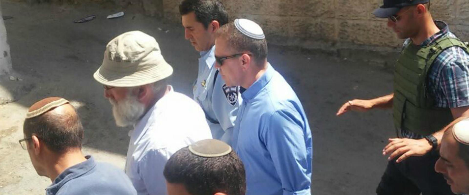 השר לביטחון פנים גלעד ארדן בסיור בסילוואן, היום