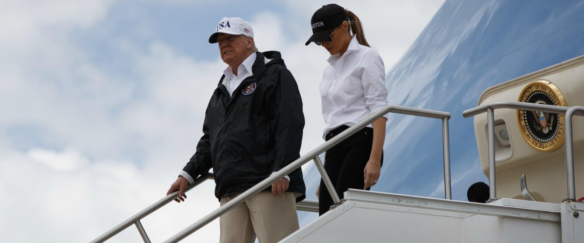 הנשיא טראמפ והגברת הראשונה