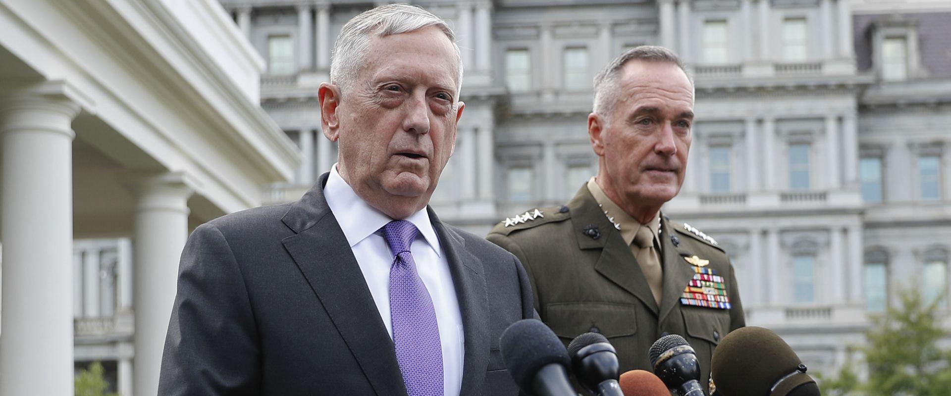 מזכיר ההגנה האמריקאי מאטיס (משמאל), היום
