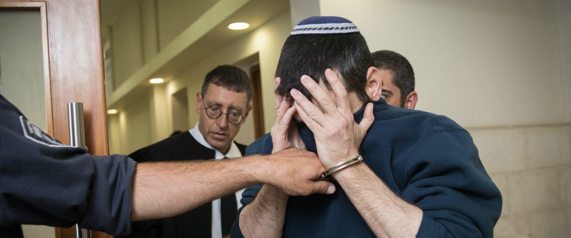 הנאשם בבית המשפט בירושלים, היום