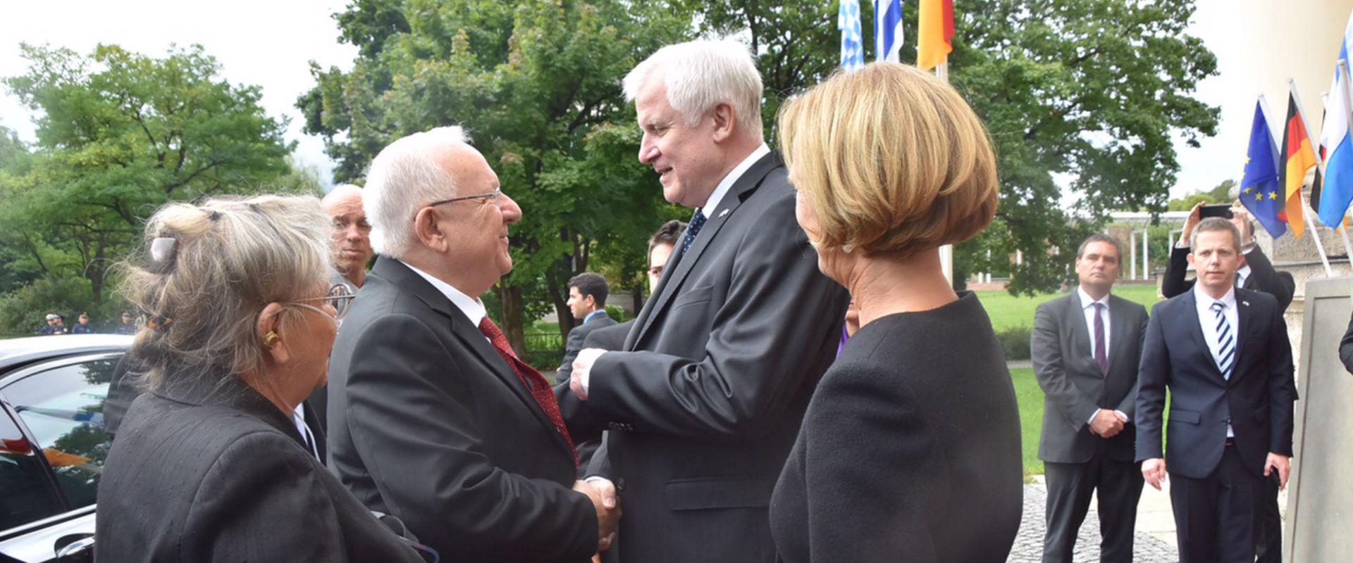 הנשיא ריבלין ורעייתו עם ראש ממשלת בוואריה