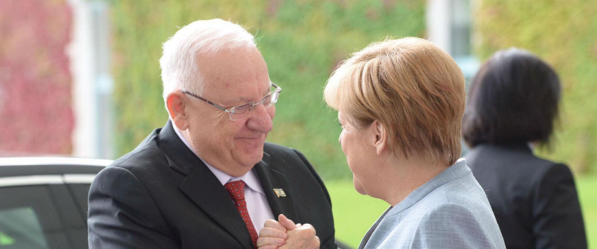 מרקל וריבלין בפגישתם בגרמניה