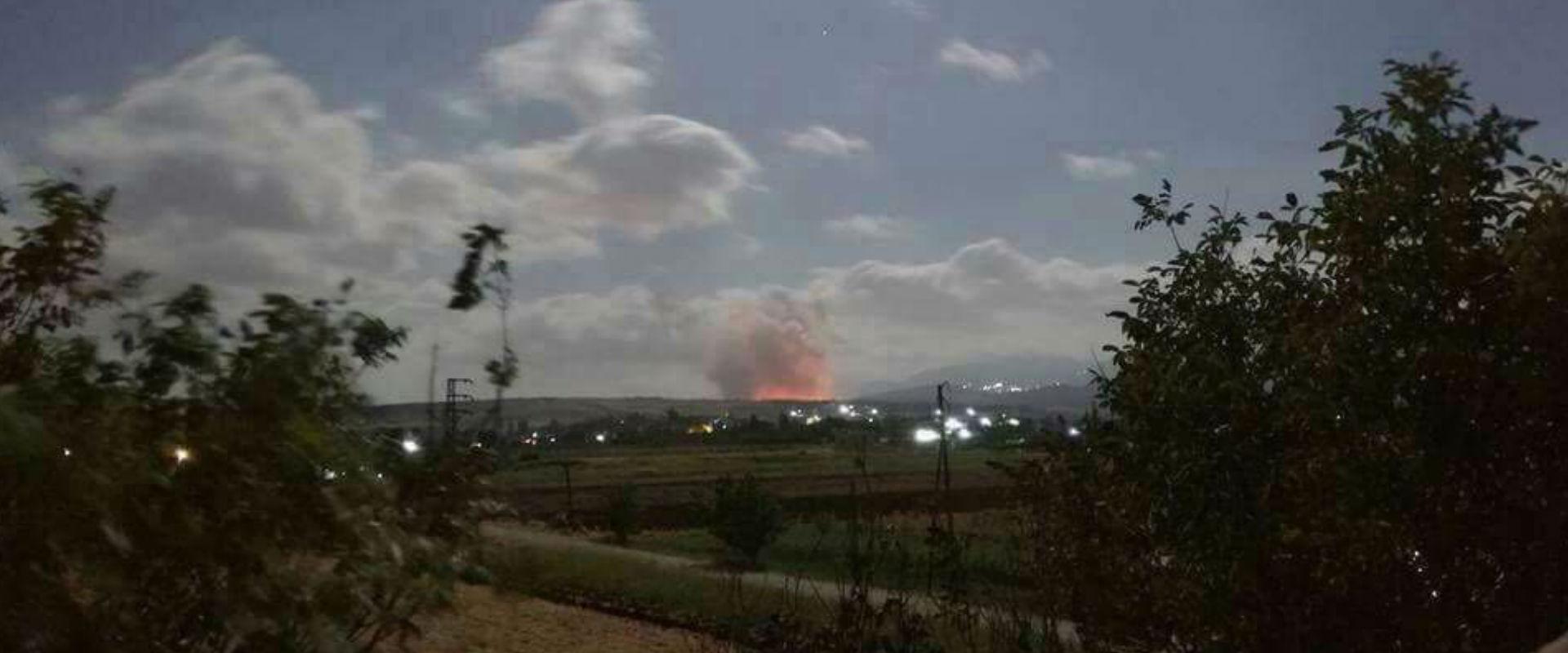 האתר שהותקף לפי דיווחים בסוריה