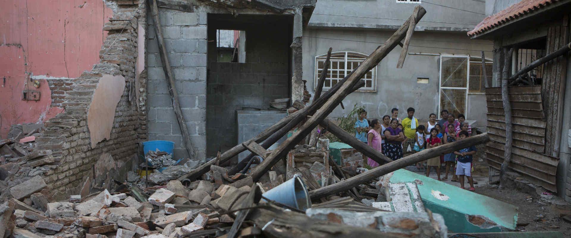 הריסות במקסיקו לאחר רעידת האדמה