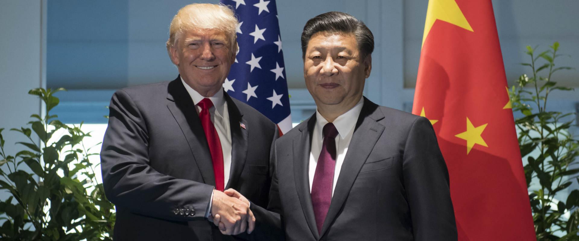 שי ג'ינפינג ודונלד טראמפ בפסגת G-20, בגרמניה ביולי