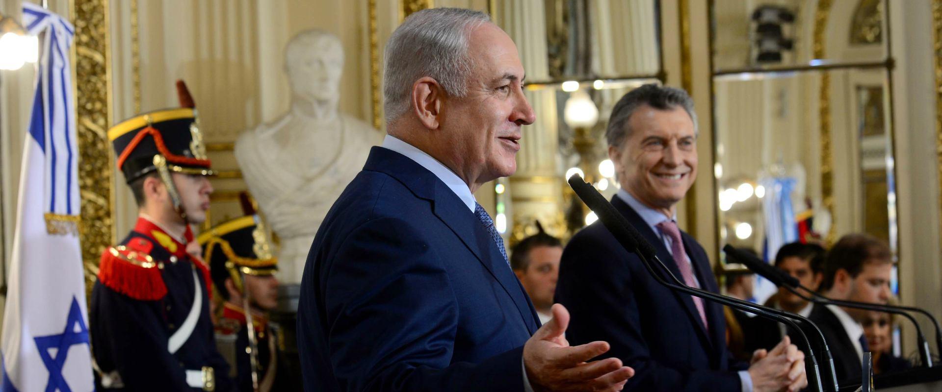 ראש הממשלה נתניהו בארגנטינה
