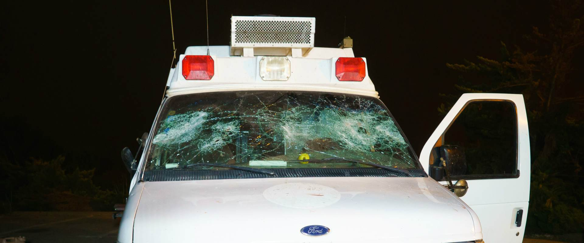 האמבולנס הצבאי שהותקף יום לאחר מכן במג'דל שמס