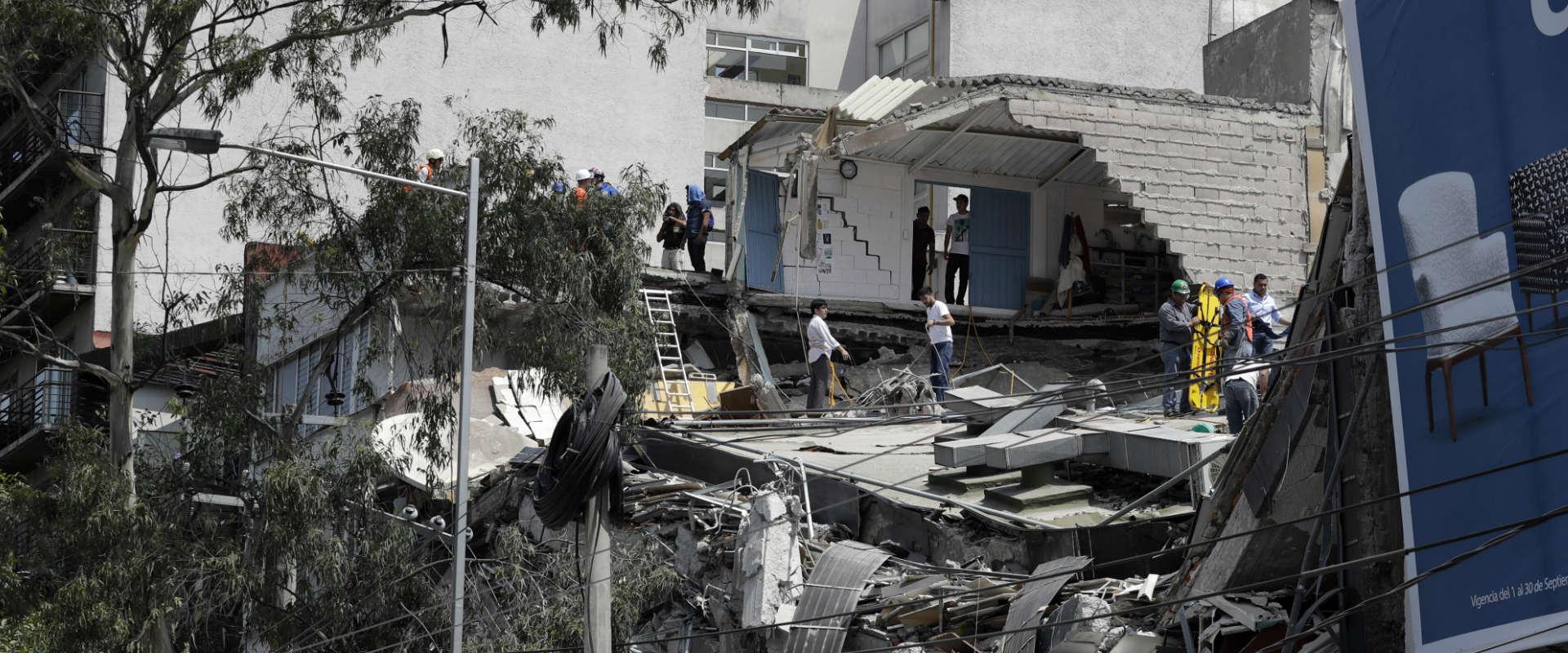 מבנה שקרס בעיר מקסיקו, היום