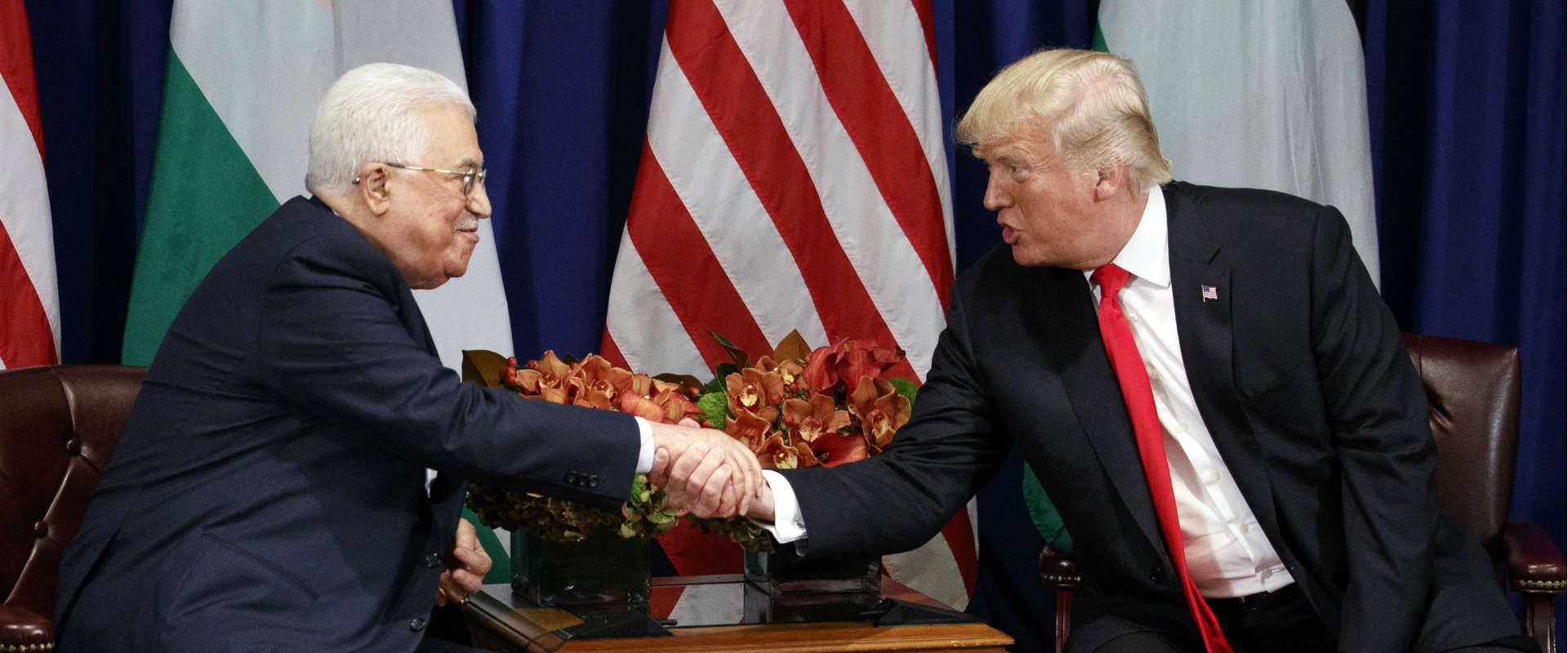 טראמפ ואבו מאזן בפגישתם בניו יורק