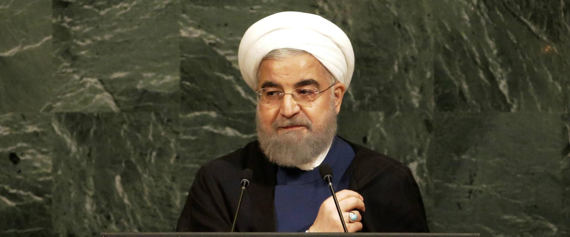 """רוחאני נואם מעל בימת עצרת האו""""ם"""