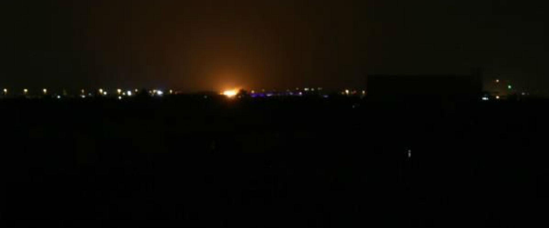 אתר התקיפה הלילה בדמשק