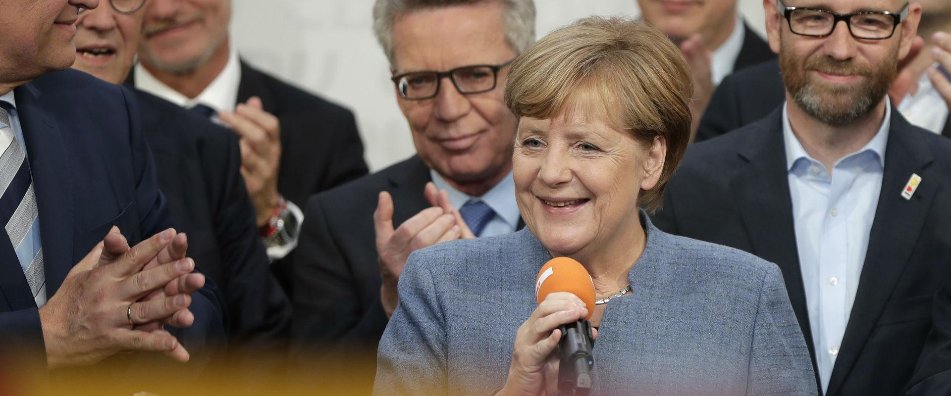 אנגלה מרקל לאחר הזכייה בבחירות בגרמניה