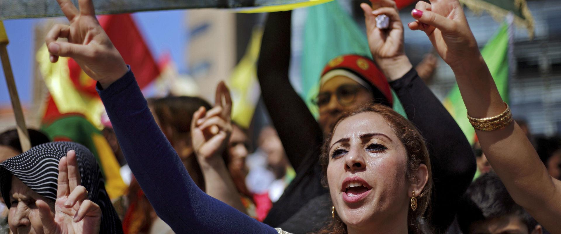 הפגנת כורדים בלבנון