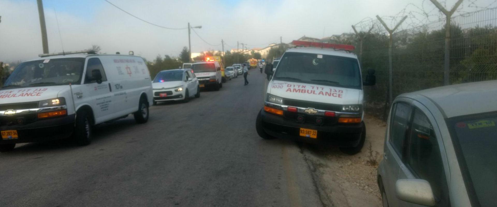 זירת הפיגוע בכניסה להר אדר