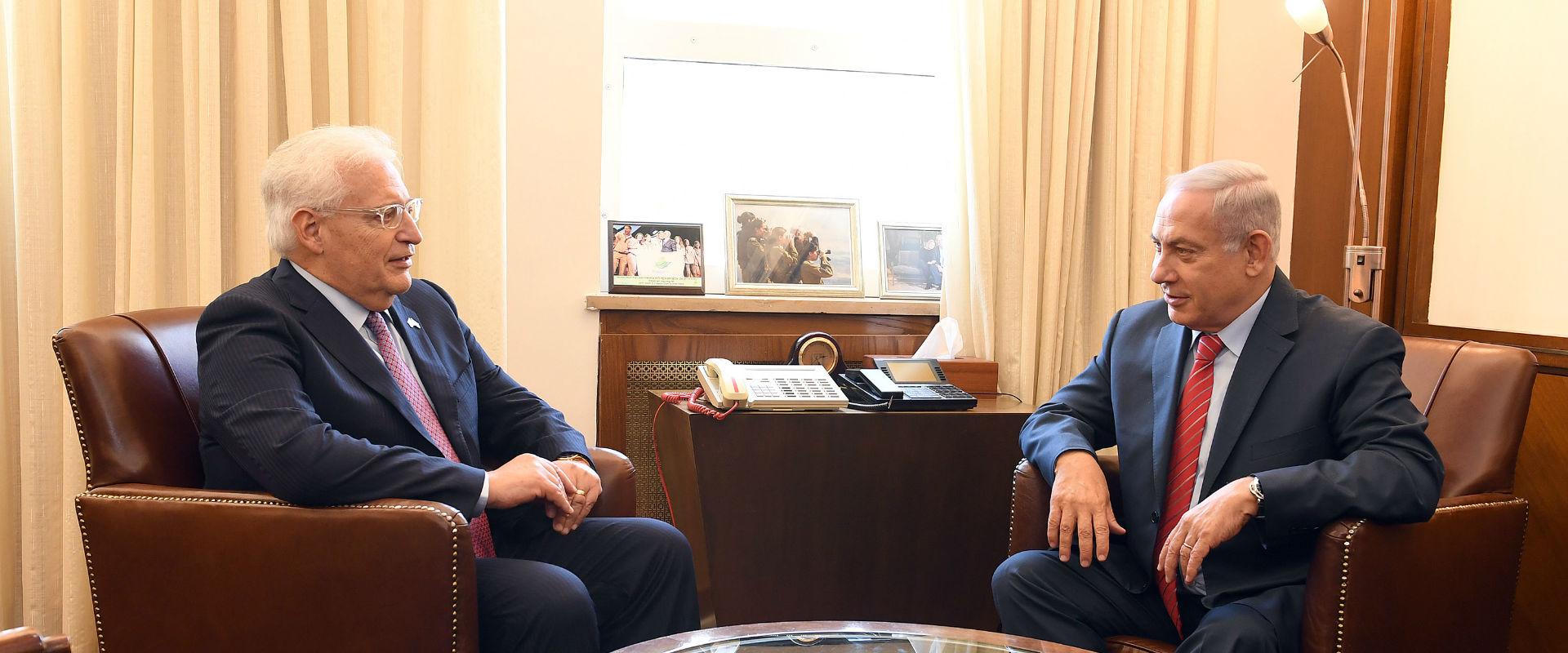"""רה""""מ נתניהו עם השגריר האמריקני דיוויד פרידמן"""