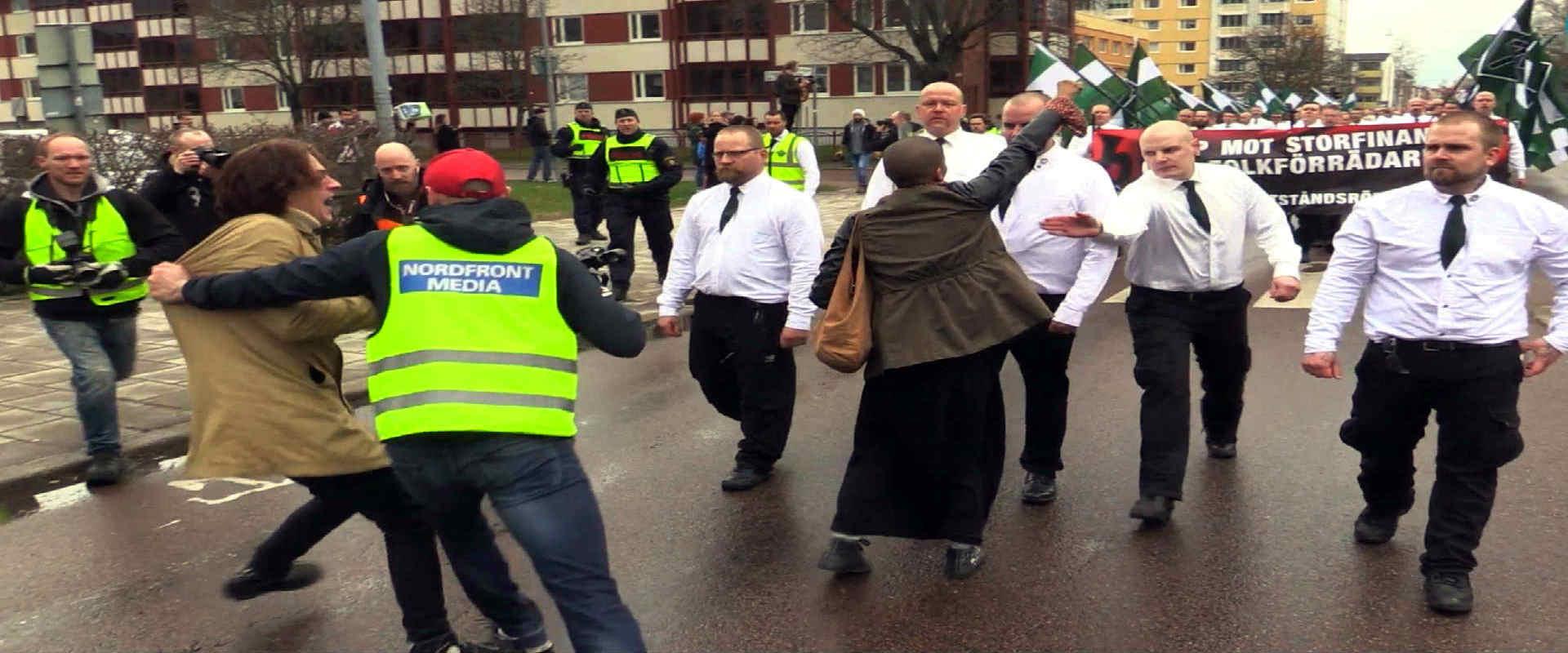 מפגינים ניאו-נאצים בשוודיה