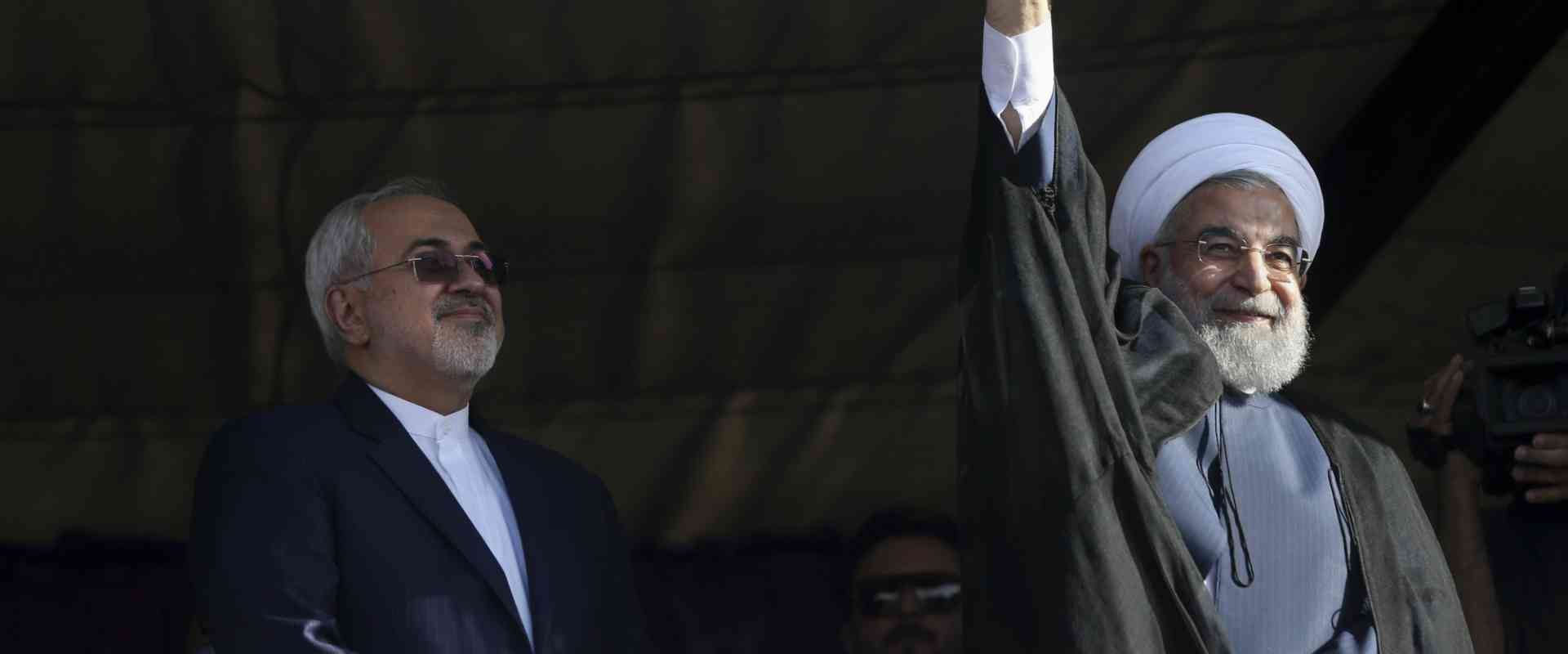 נשיא איראן רוחנאי ושר החוץ זריף
