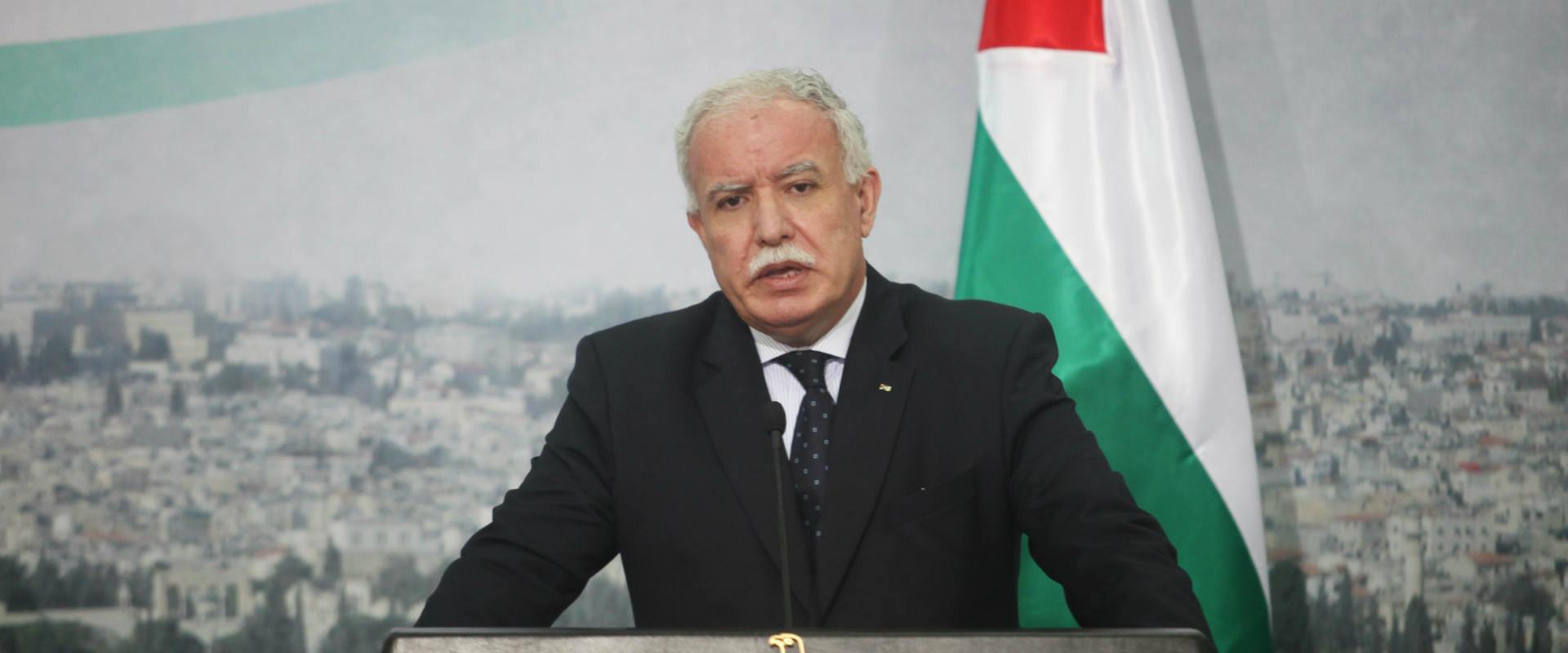 שר החוץ הפלסטיני, ריאד אל מאלכי