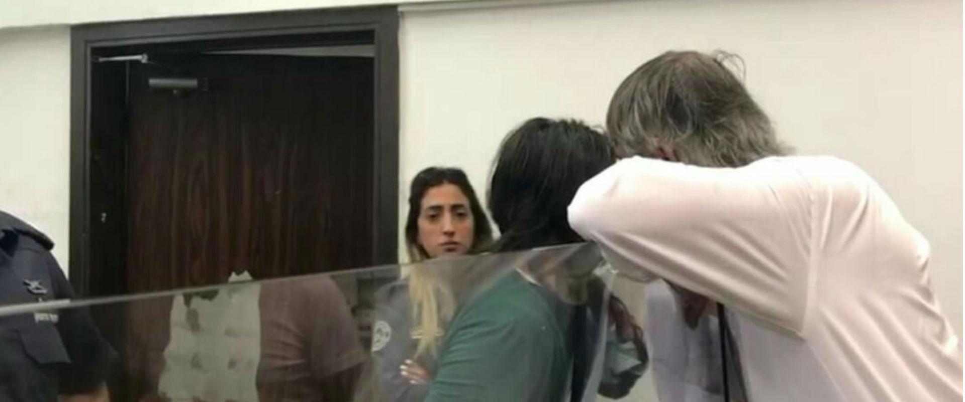 גבריאלוב (במרכז התמונה) בבית המשפט, היום