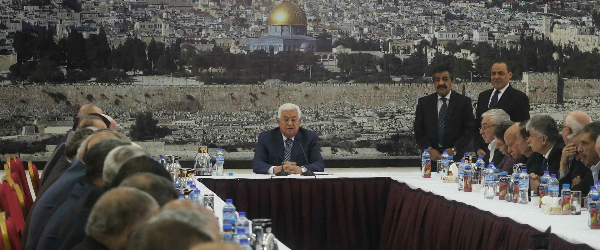 """יו""""ר הרשות הפלסטינית, מחמוד עבאס"""