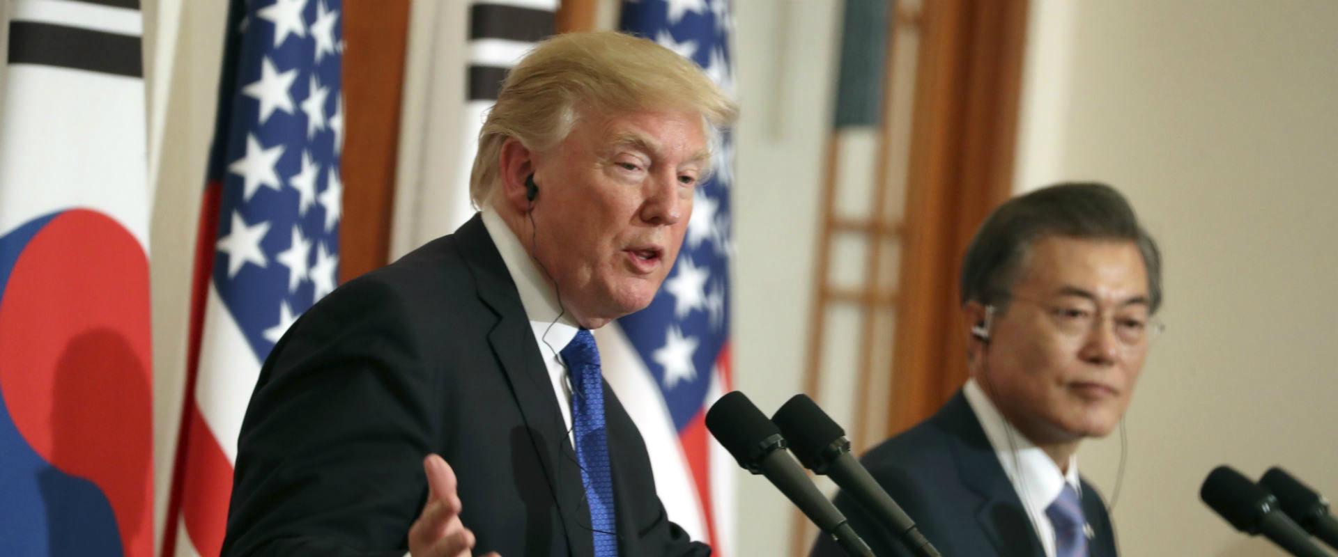 """נשיא ארה""""ב טרמאפ מבקר בקוריאה הדרומית"""
