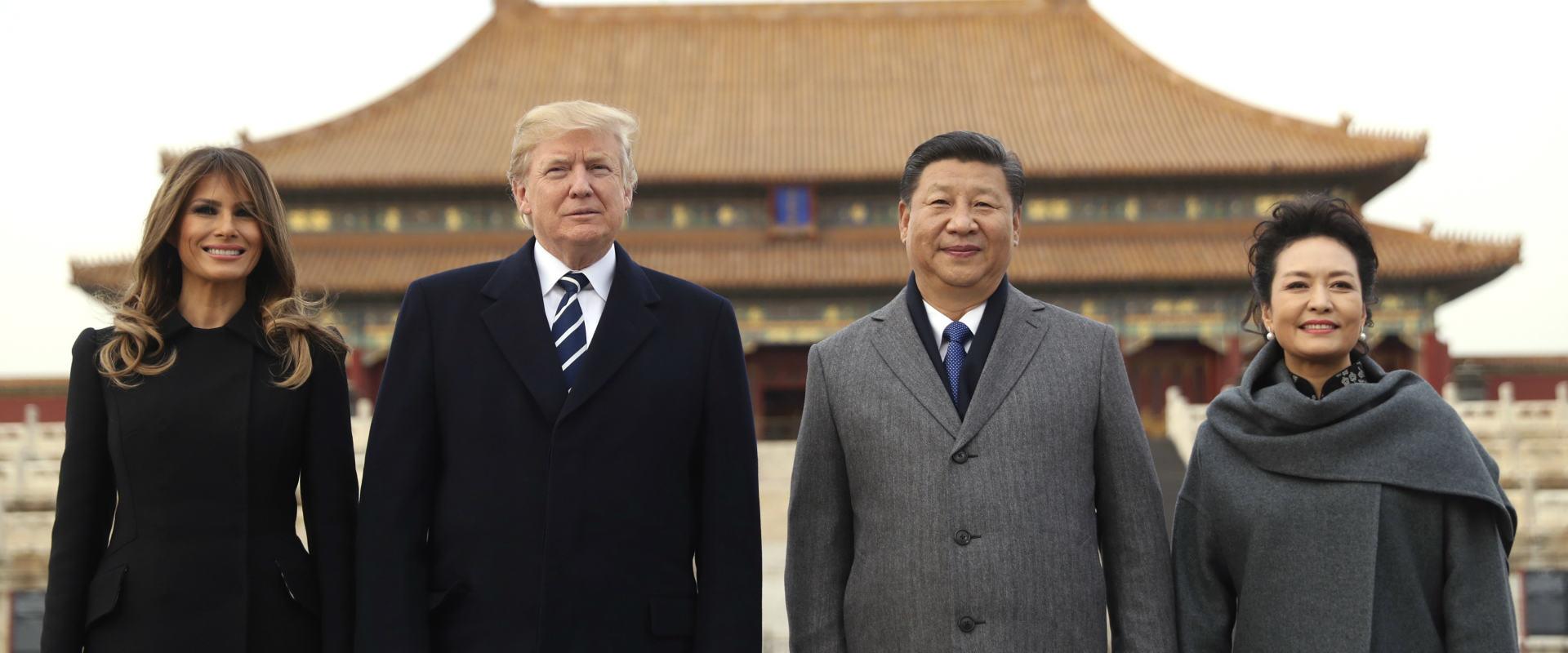 "נשיא ארה""ב טרמאפ, לצד נשיא סין, שי ג'ינפינג"