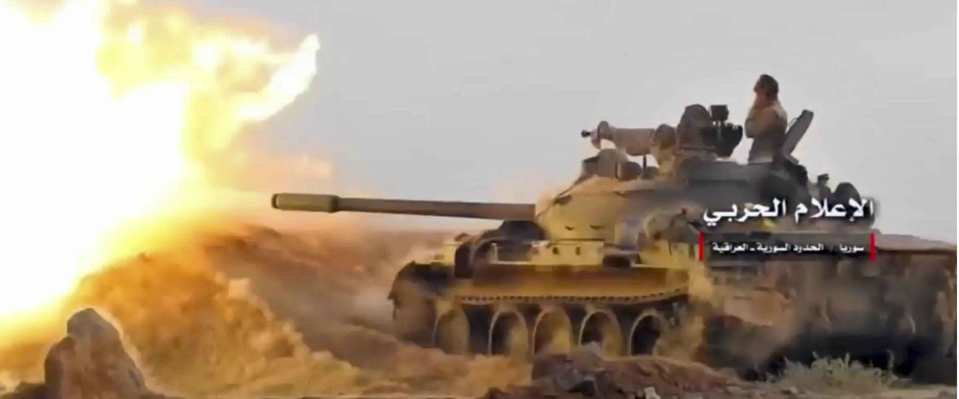 קרבות בין צבא סוריה לדאעש בעיר אלבוכמאל