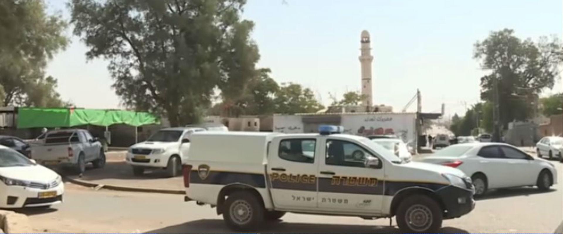 משטרה באזור הקטטה בתל שבע