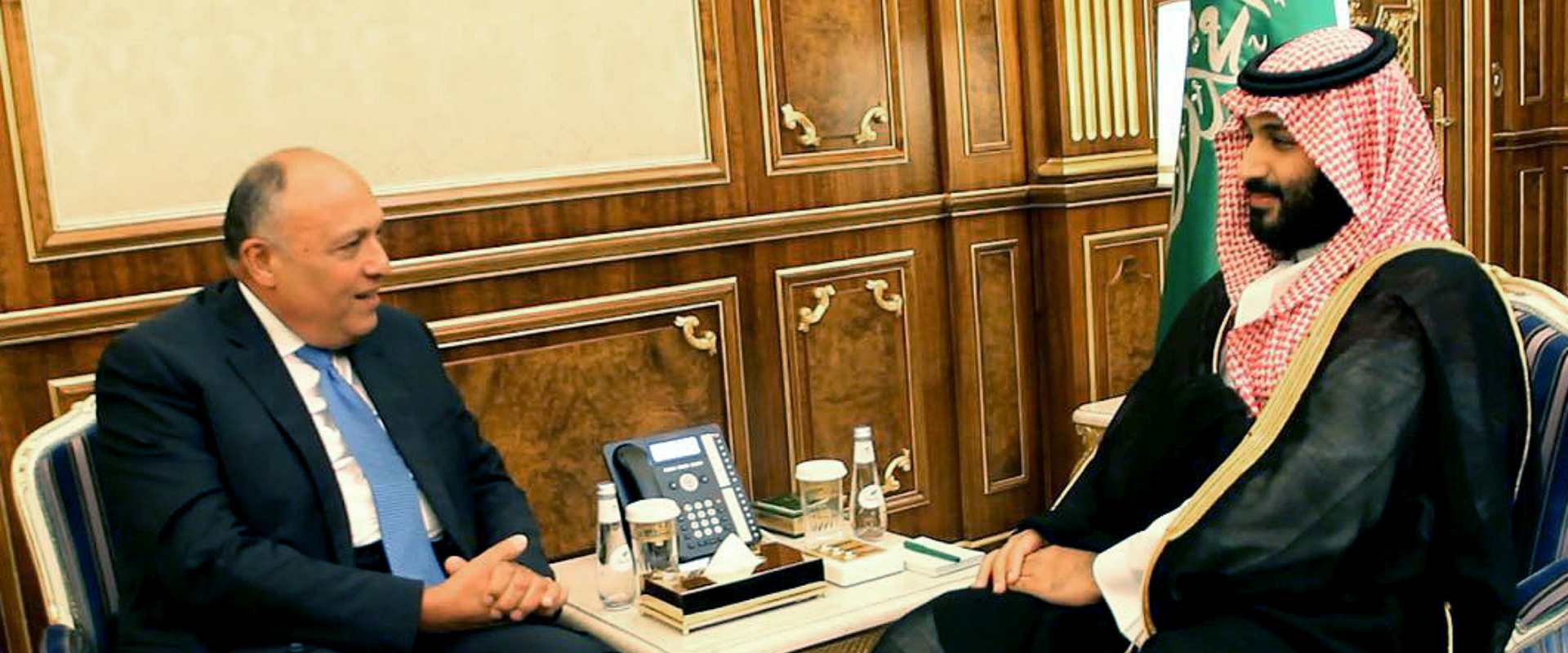 יורש העצר הסעודי ושר החוץ המצרי