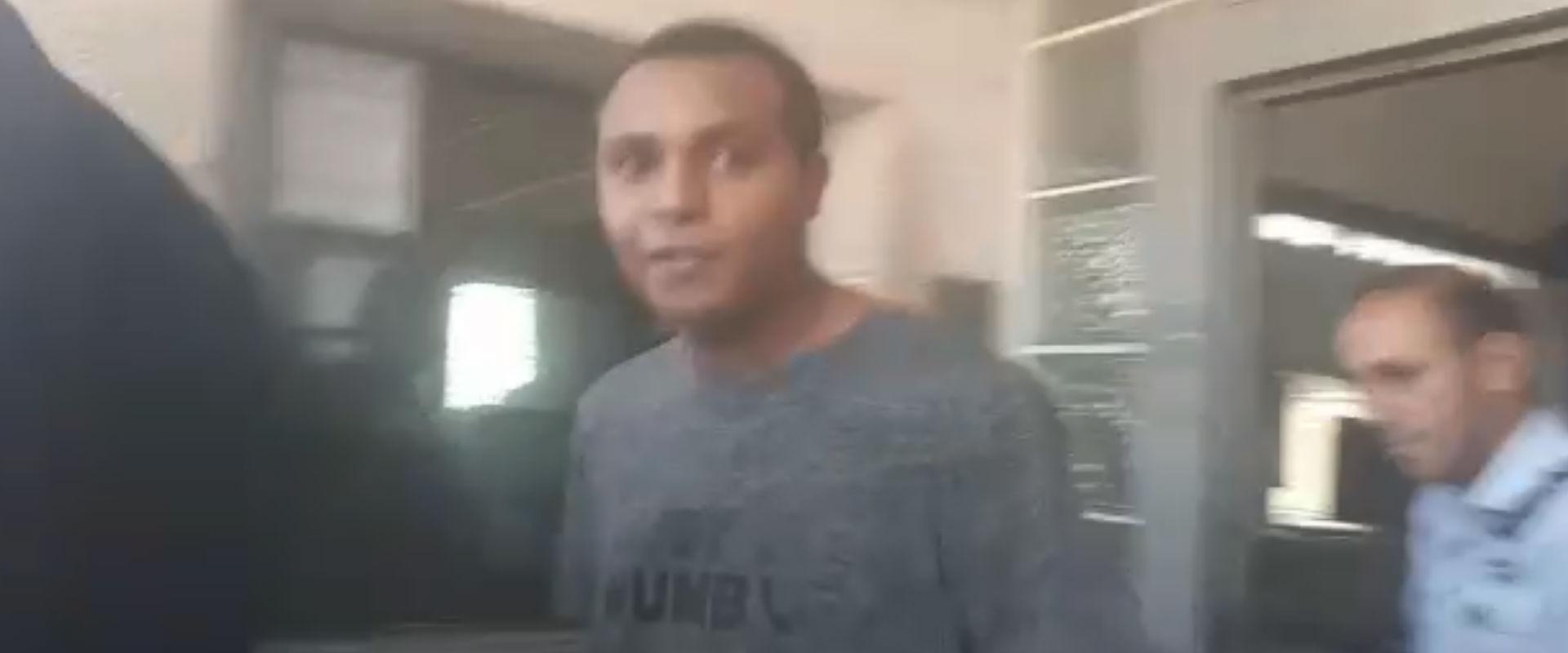 יונתן היילו ברגע שחרורו