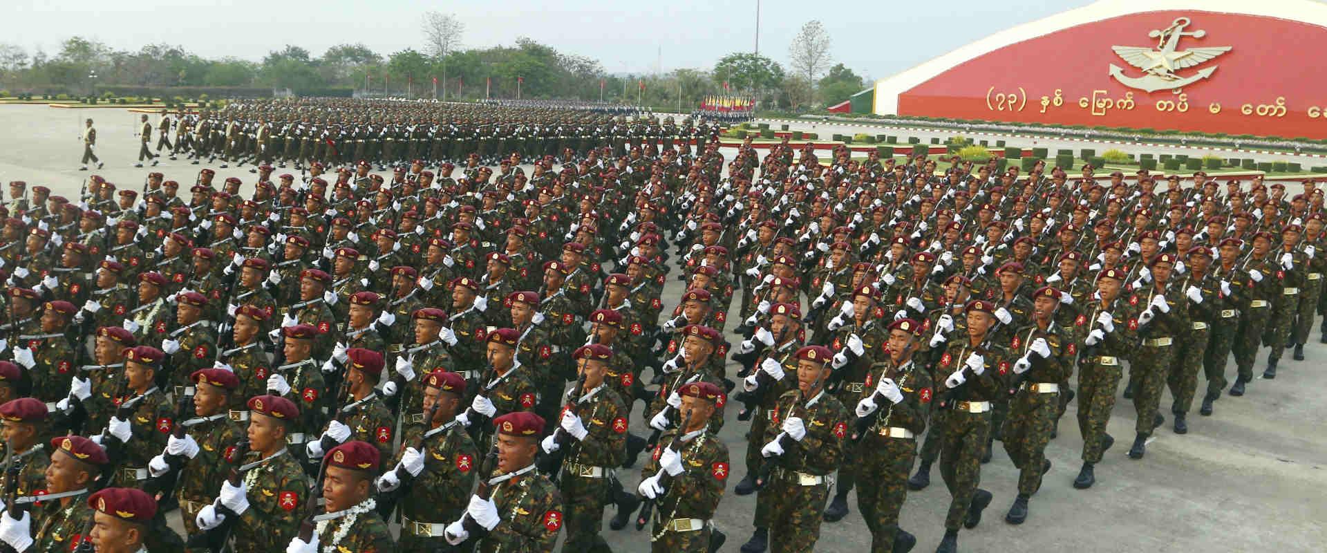 מצעד צבאי במיאנמר, במרץ