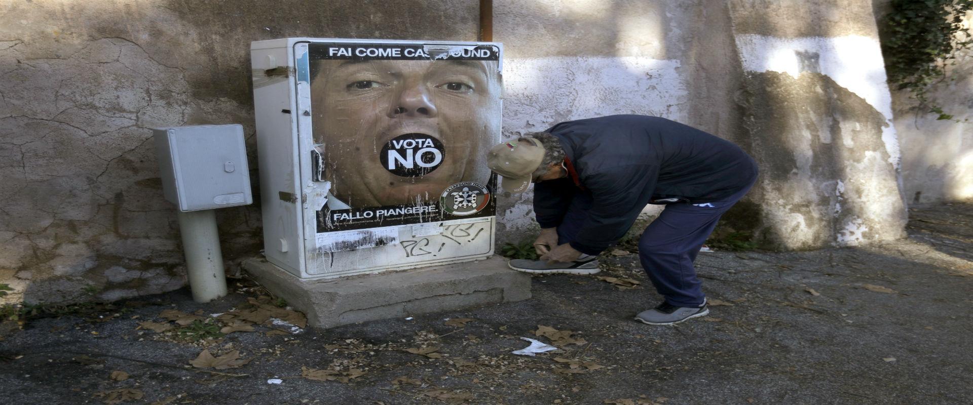 כרזת תעמולה רפורמות רנצי, רומא