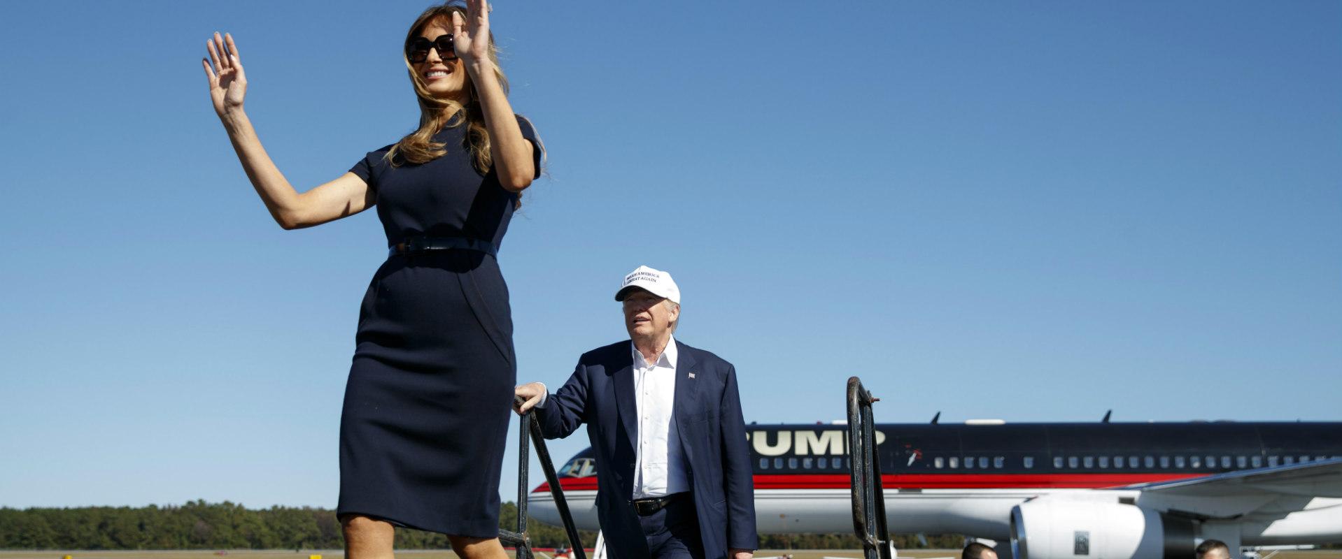 בני הזוג טראמפ