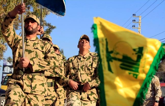 עצרת של לוחמי חיזבאללה בלבנון